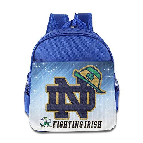 Notre Dame Fighting Irish Shamrock Green Hat Kids School RoyalBlue Backpack Bag
