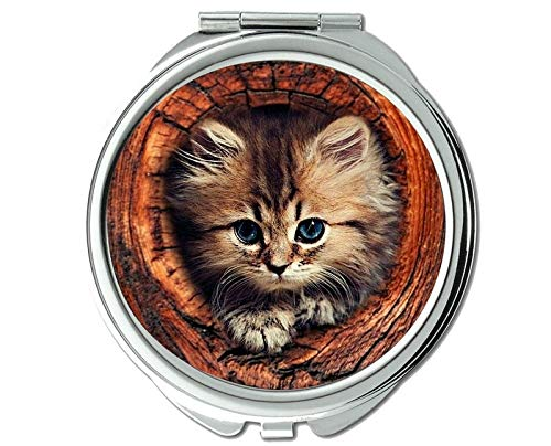 Mirror,makeup mirror,Kitten animal cat mirror for Men/Women,1 X 2X Magnifying - Wallpaper Kmart