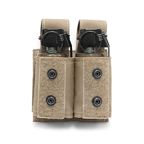 Warrior Assault Systems Double 40mm Grenade/Small NICO Flash Bang Pouch, Coyote Tan