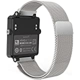 "Garmin Vivoactive Acetate Watch Band, MoKo Milanese Loop Stainless Steel Mesh Replacement Strap for Garmin Vivoactive Acetate Sports GPS Smart Watch, Fit 5.7""-8.85"", Silver"
