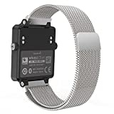 Garmin Vivoactive Acetate Watch Band - MoKo Milanese Loop Stainless Steel Mesh Replacement Strap for Garmin Vivoactive Acetate Sports GPS Smart Watch - Fit 5.7