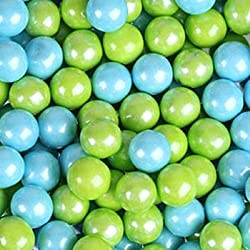 Sweetworks Lime Green & Powder Blue Shimmer Sixlets 1 lb Bag
