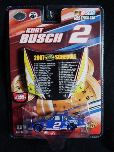 Nascar Kurt Busch #2 2007 Dodge 1:64 Car with Hood Magnet