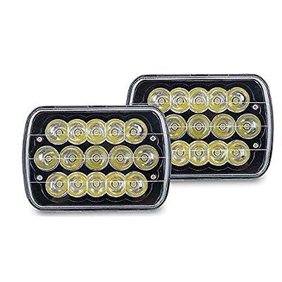 V-spec H6054 Led Headlights, Pair 7x6 Led Headlights 5x7 Led Headlight 6054 Led Headlight 7x6 Headlights H6054 Led Headlight Hi/Low Sealed Beam 7x6 Headlight Lamp for Jeep Xj Yj Cherokee E250: Automotive