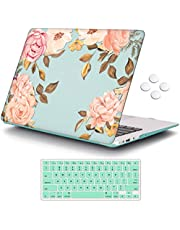 """iCasso MacBook Case Green Watercolor Rose New MacBook Air 13"""" Model A1932 (2018 Release)"""