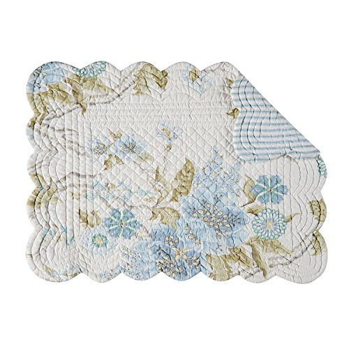 Set of 4 PCS, 13X19″ Quilted Scallop Placemat, Jesamine