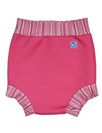 Happy Nappy Baby and Toddler Swim Diaper, Pink Candy Stripe, Medium 3-8 Months