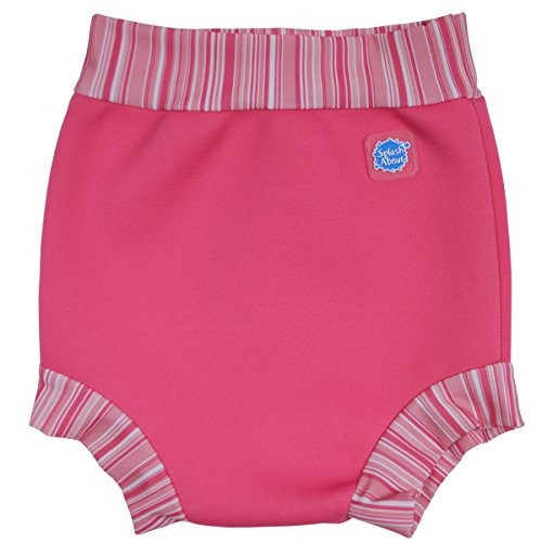 Happy Nappy Baby and Toddler Swim Diaper, Pink Candy Stripe, Medium 3-8 (Nappy Candy)