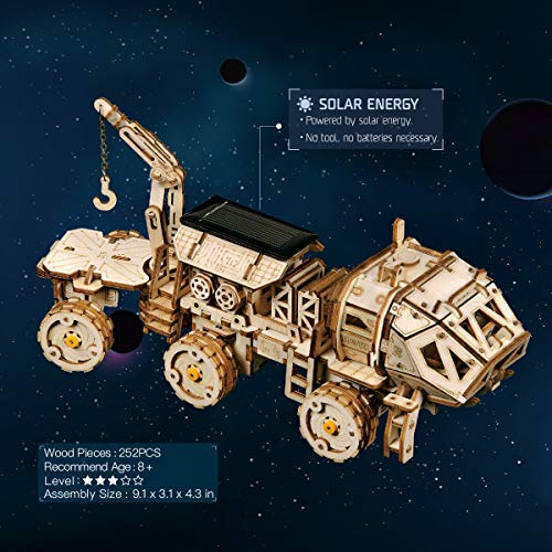 ROKR 3D Wooden Puzzle Solar Power Toy STEM Project Model Kits for Kids