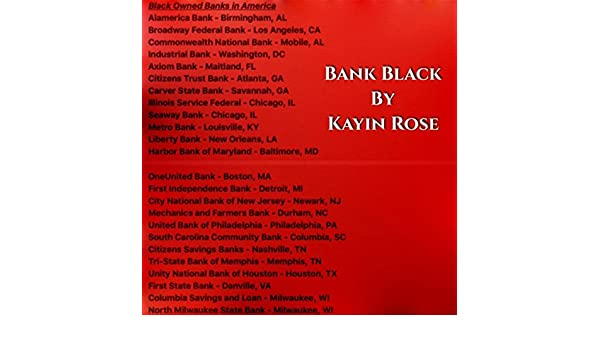Bank Black Explicit By Kayin Rose On Amazon Music Amazon Com