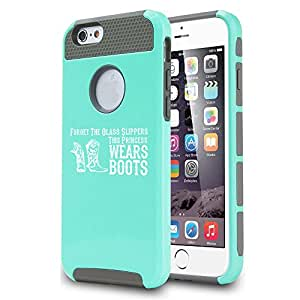Apple iPhone 5c Shockproof Impact Hard Case Cover Princess Wears Boots Cowgirl (Teal)