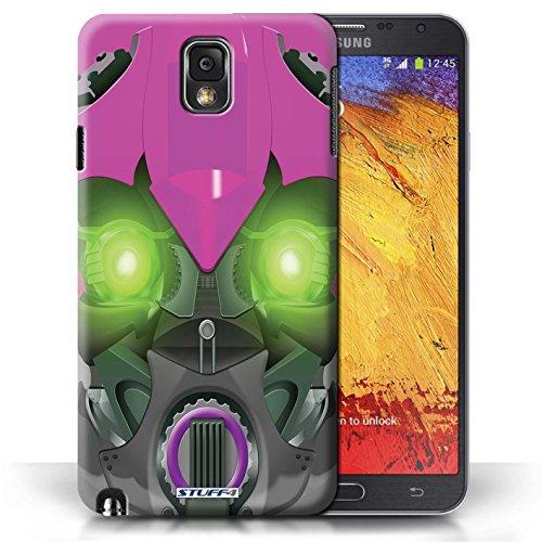 Etui / Coque pour Samsung Galaxy Note 3 / Bumble-Bot Violet conception / Collection de Robots