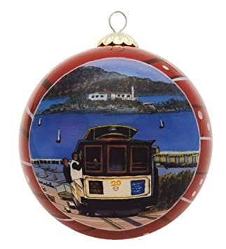 Amazon.com: San Francisco Christmas Ornament - Cable Car: Home ...