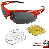 VeloChampion Tornado Sunglasses - Red