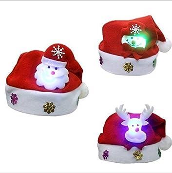 UChic 6 STÜCKE Glänzende Schöne Rote Weihnachten LED Glühende Hüte ...