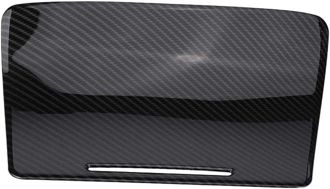 Cavis Abs Center Console Panel Decoration Cover Trim 2Pcs For Mercedes C Class W205//Glc X253 Carbon Fiber Color