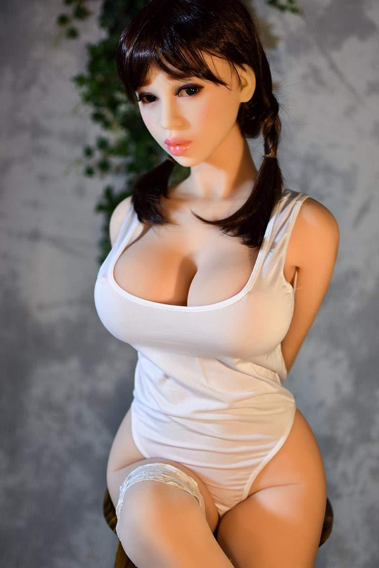 Muñeca Sexual TPE Silicona Extra + Cabeza Extra Silicona Gratis juguete de sexo para hombres oral anal vaginal 165cm Copa F Adriana e7b518