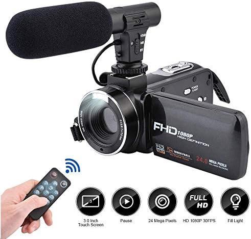 Camescope 2.7K Full HD Cam/éscope avec Microphone 30FPS WiFi IR Night Vision Vlogging Cam/éscope 24MP 16X Zoom num/érique 3 Pouces LCD Touch Screen