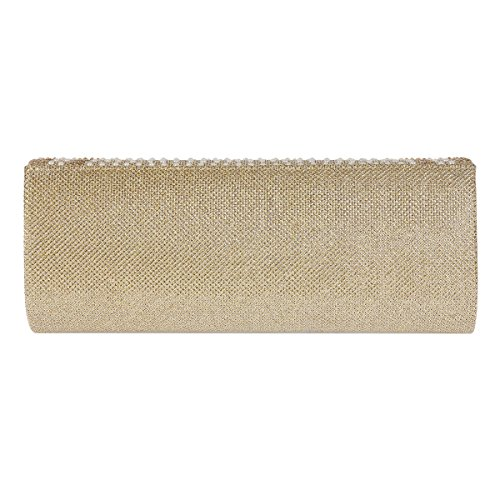 White Dazzling Womens Clutch Pearl Bag Damara Over Flap Patterned Evening wzXw7Pq