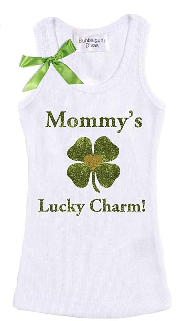 Bubblegum Divas Big Girls St Patricks Mommy Lucky Charm Tank