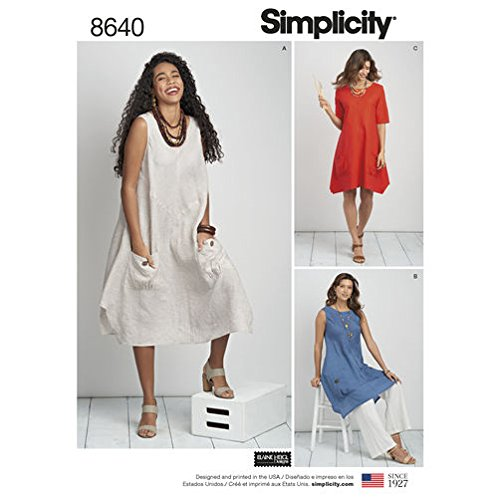 Simplicity 8640 Woman Dress and Tunic Sewing Pattern Size 20W-28W