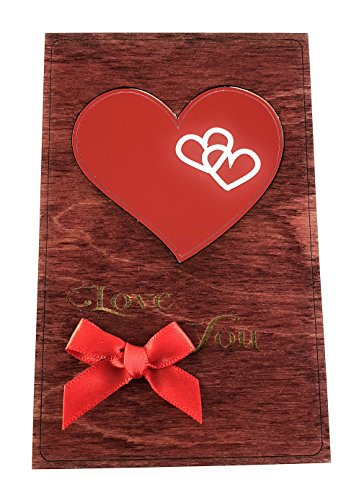 Handmade Wooden Valentine's Day Card. Say