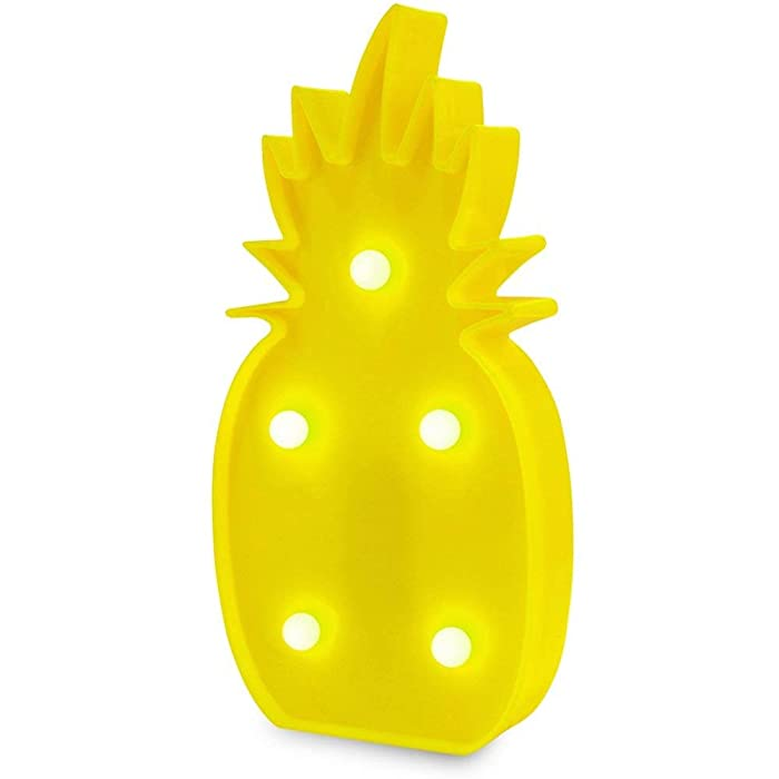 Pineapple Decor Light,Light Up 3D Tropical Pineapple LED Lamp,Romantic Night Table Lamp Holiday Home Christmas Party Table Decorations,Light Decor for Kids Baby Adults Bedroom,living room.