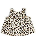 RuffleButts® Infant / Toddler Girls Open Back Print Swing Top - Leopard - 18-24m