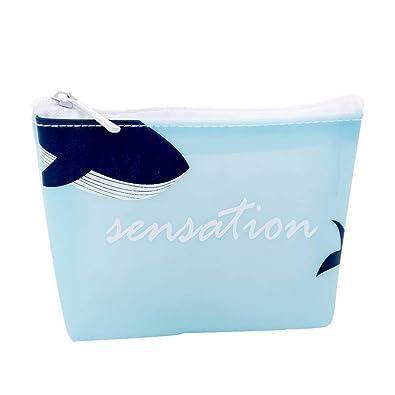 Amazon.com: Kanggest - Bolso para monedas de ballena azul ...