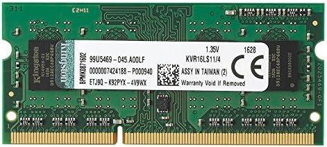 Kingston KVR16LS11/4 Memoria RAM para Portátil 4GB, DDR3L, 1600MHz, PC3-12800, 1.35V, Non-ECC, CL11, SO-DIMM