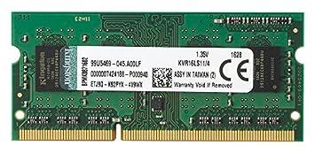 Kingston Technology 4gb 1600mhz Ddr3l Pc3 12800 1 35v Non Ecc Cl11