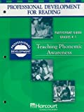 Teaching Phonics Awareness, Grades K-1, Harcourt School Publishers Staff, 0153383569