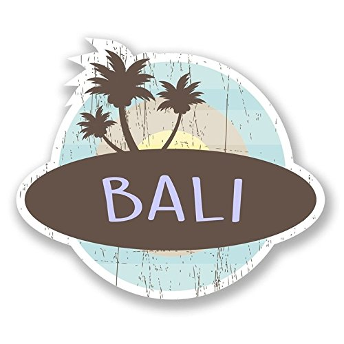 Bali Vinyl Decals Stickers (TWO PACK!!!)|Cars Trucks Vans Walls Laptops|Printed Color|2-4 in decals|KCD567