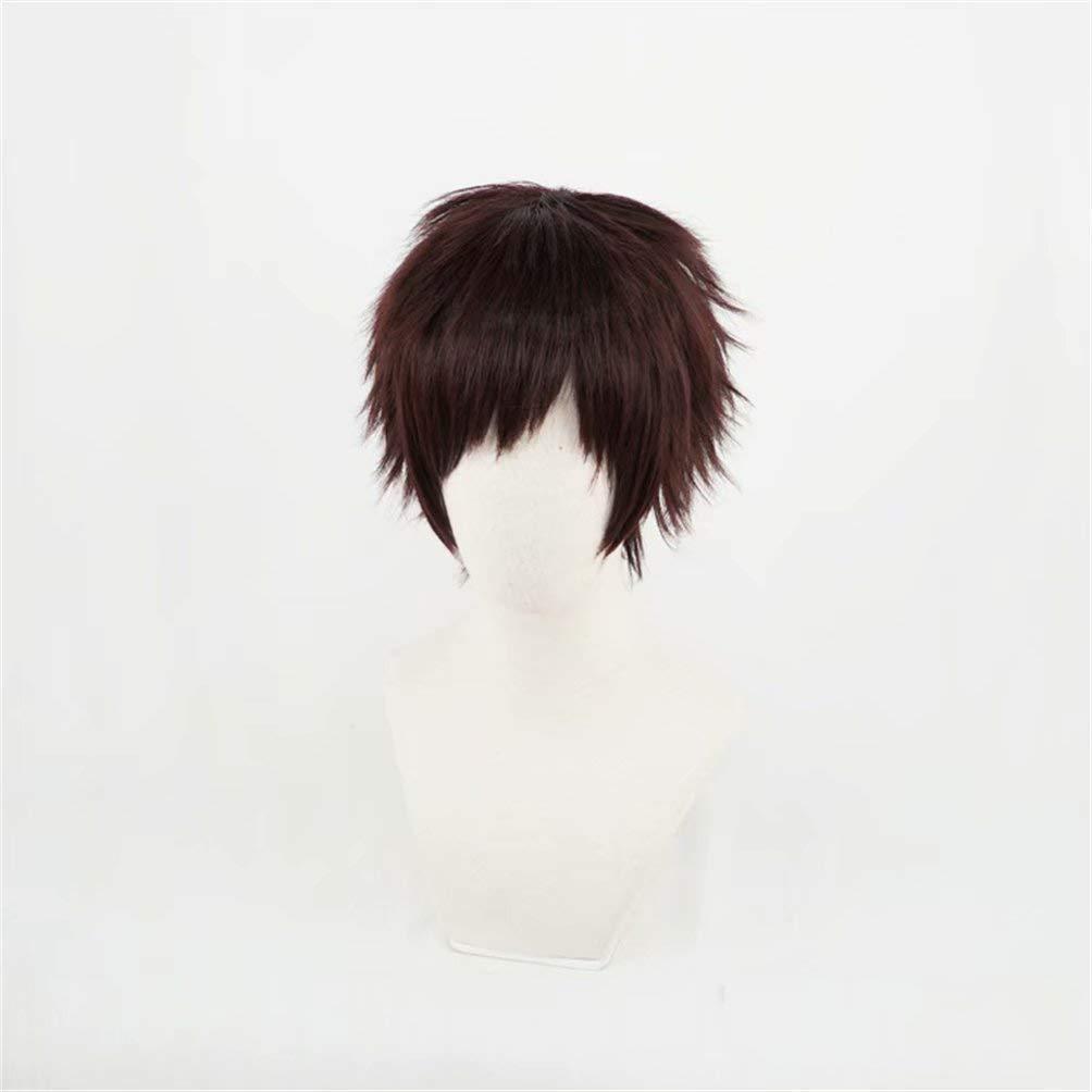 Boku no My Hero Academia Chisaki Kai Cosplay Black Brown Hair Wig+Free wig cap