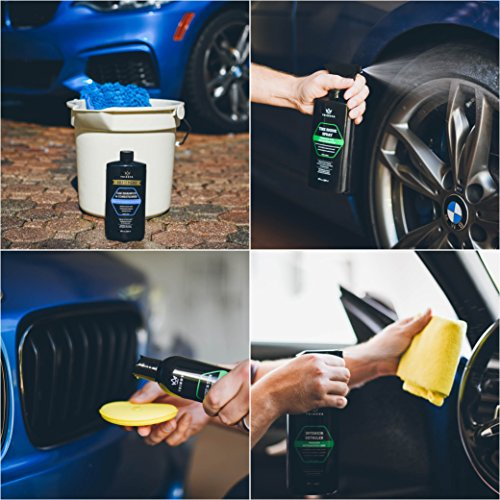 Car Wash Kit Complete Detailing Supplies For Cleaning Soap Wax Tire Shine Trim Restorer Wash Mitt Applicator Microfiber Towel Best Value To Care For Truck TriNova