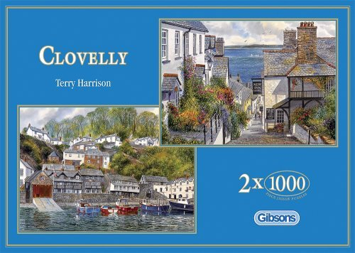 Gibsons Clovelly 2 x 1000 Piece Puzzles by Gibson