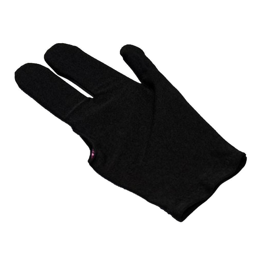 ZHUOTOP Guante de billar para billar con tres dedos (mano izquierda), color negro, negro