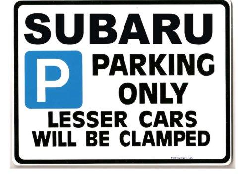 Subaru Car Parking Sign - Gift for impreza sti legacy 4wd turbo models - Size Large 205 x 270mm Case-Graphics