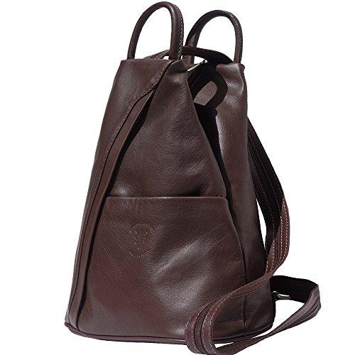 Bolso mochila y bolsa de hombro 2061 Marrón oscuro