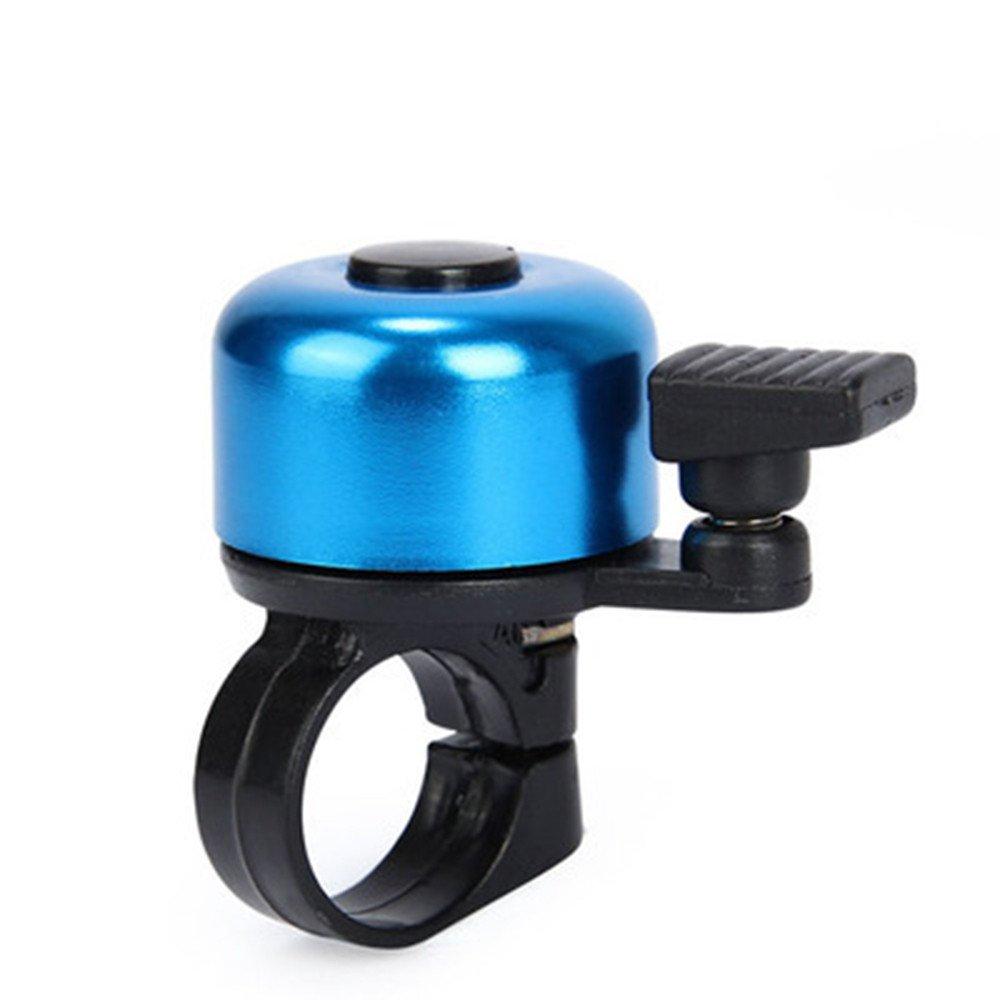 Jonerytimefor Safety Cycling Bicycle Handlebar Metal Ring Black Bike Bell Horn Sound Alarm (Blue)