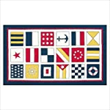 Kids Nautical Flags Ivory/Blue