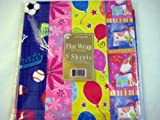 All Occasion Birthday Gift Wrap Flat Wrap Pack of 8 Sheets, Health Care Stuffs