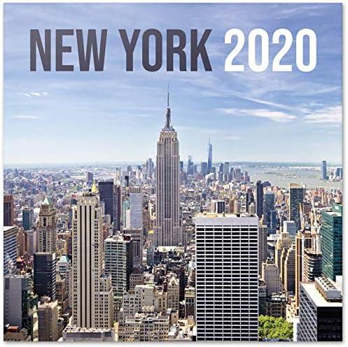 ERIK® New York Wandkalender/Broschürenkalender 2020 30x30cm (aufgeklappt 30x60cm im Hochformat)