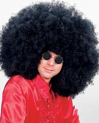 Fancy Dress Afro Wigs (1960s 1970s Super Jimi Hendrix Afro Fancy Dress Wig - Black)