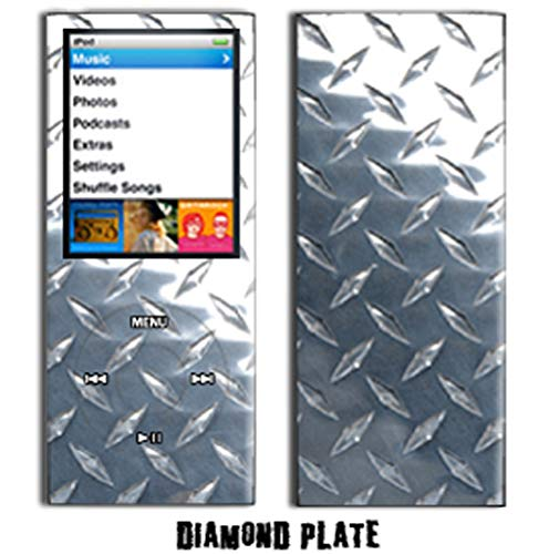 - MightySkins Protective Vinyl Skin Decal Cover for Apple iPod Nano 4G (4th Generation) wrap sticker skins - Diamond Plate