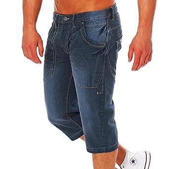 Soul pour homme 3 4 dance short en jeans pantacourt bermuda - Bleu - FR 6ea67c54478