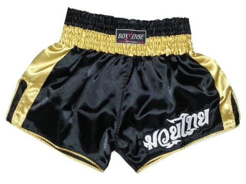 LUMRTO-003-Navy Lumpinee Retro Muay Thai Kick Boxing Shorts