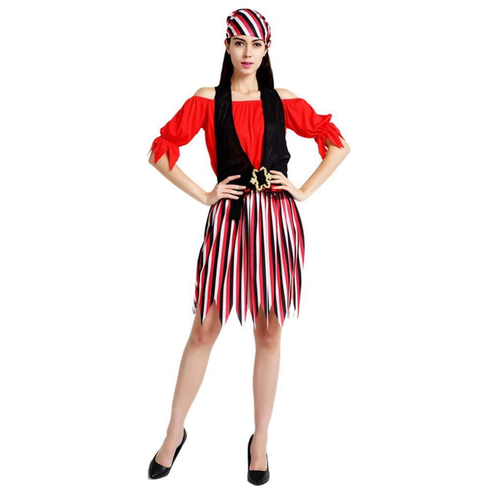 Olydmsky Halloween Costumes Women Halloween Costume Witch Outfit Pirate Uniform Party Costume