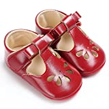 Benhero Baby Girls Soft Sole Bowknot Mary Jane Princess Shoes (infant) (12-18 Monthes/5.12inch, 1560 Red) | amazon.com