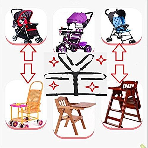 5-Punkt-Gurt Baby Kinderwagen//Hochstuhl-Sitzkissen Polster Fashion Gray 1 Anzug widerstandsf/ähig und Gurte f/ür Hochstuhl